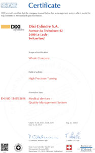 ISO Certificate 2018-13485