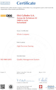 ISO Certificate 2018-9001